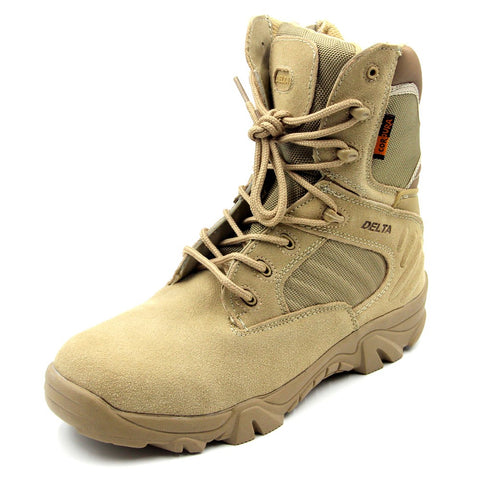 DELTA Waterproof Tactical Boots Outdoor with ZIP - Tan