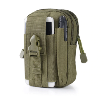 TACTICAL MOLLE POUCH POCKET SIZE - OD Green