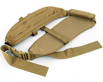 Molle Tactical padded belt on shoulder - Tan