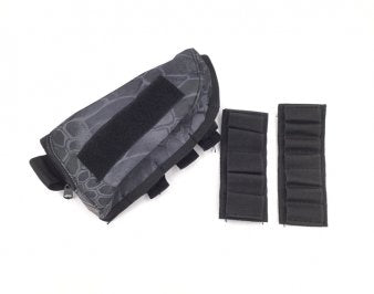 Rifle Stock Ammo Pouch with Cheek Leather Pad - TYPHON