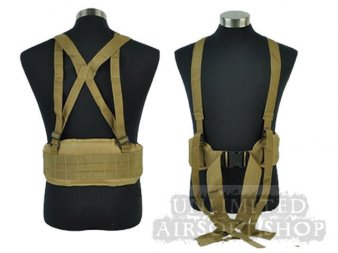 Tactical Waist Padded Belt with H-shaped