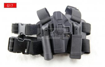 LEFT HAND CQC Holster Set & Mag Pouch for Glock Black