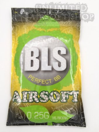 BLS 0.25g Biodegradable BBs WHITE - 1 KG/BAG (4000rds)