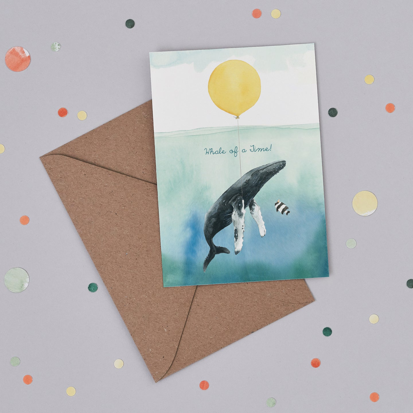 Whale of a Time Card
