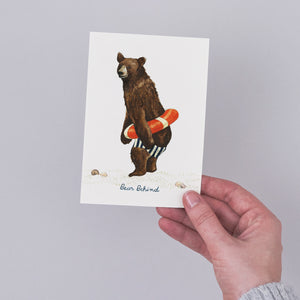 Bear Behind Card