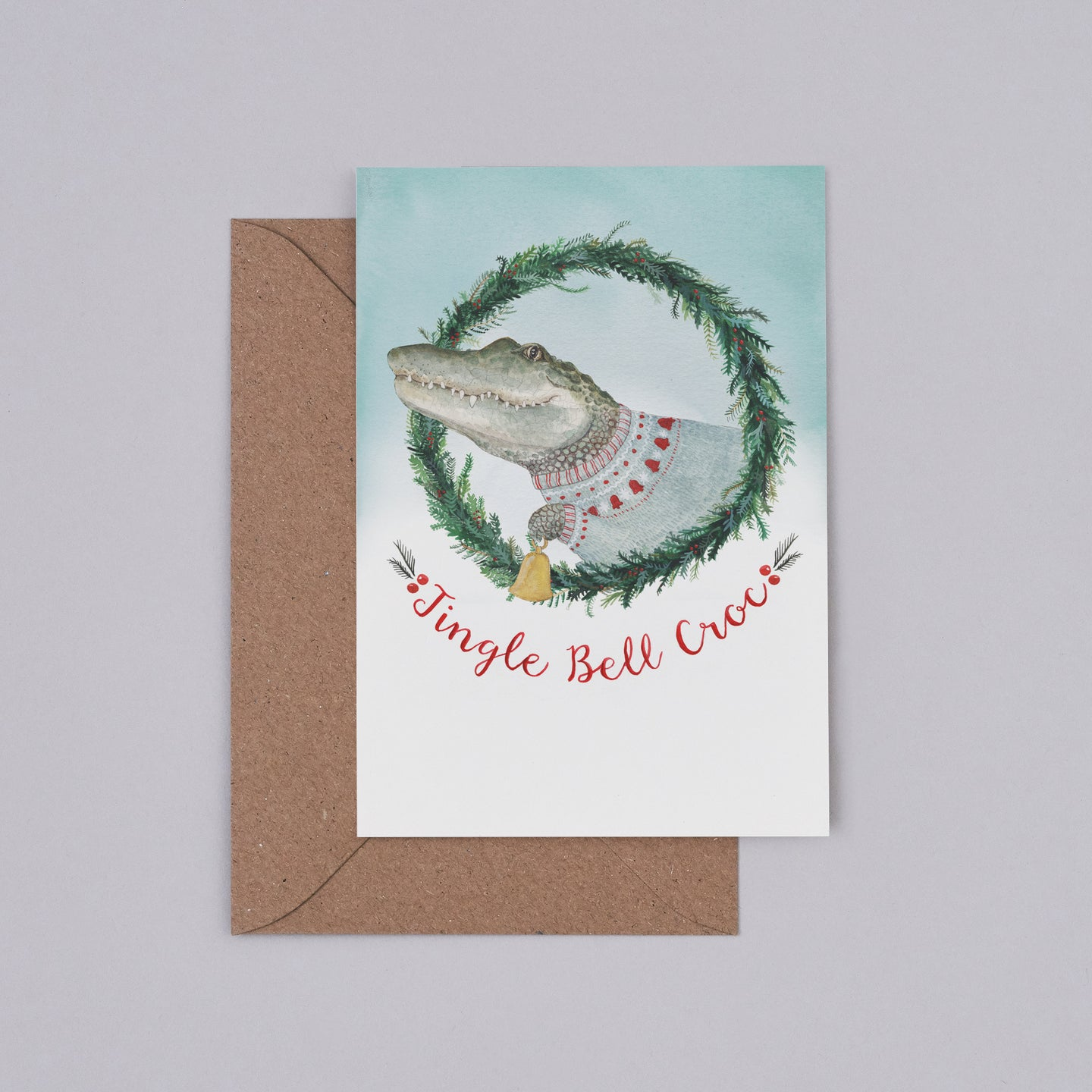Jingle Bell Croc' Christmas Card