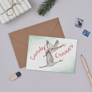 Candy Cranes Christmas Card