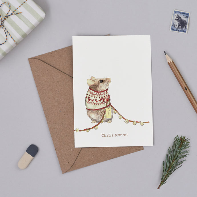 Chris Mouse Christmas Card