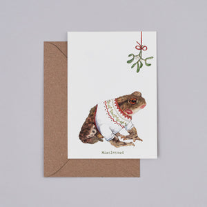 Mistle Toad Christmas Card