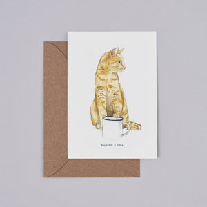 Paw Me a Tea Card