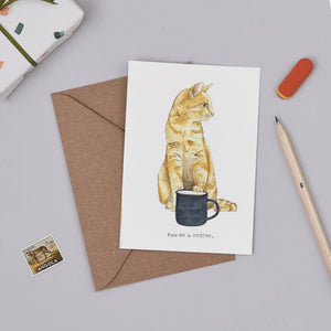 Paw Me a Coffee Card