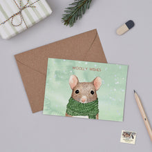 Woolly Wishes Mouse Christmas Card