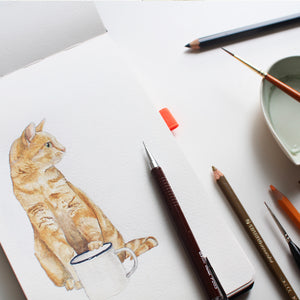 Paw Me a Tea Illustration