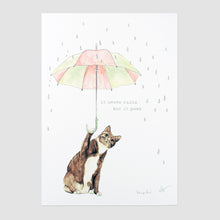 Never Rains But Paws Print Flat
