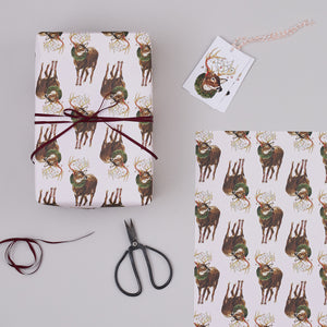 Christmas Deer Gift Wrap