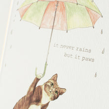 Never Rains But Paws Print Close