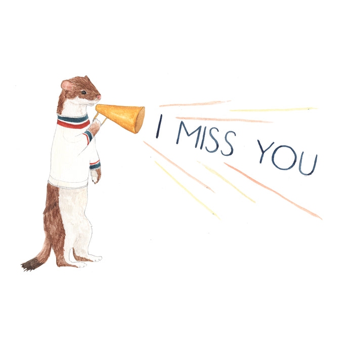I Miss You Downloadable Card