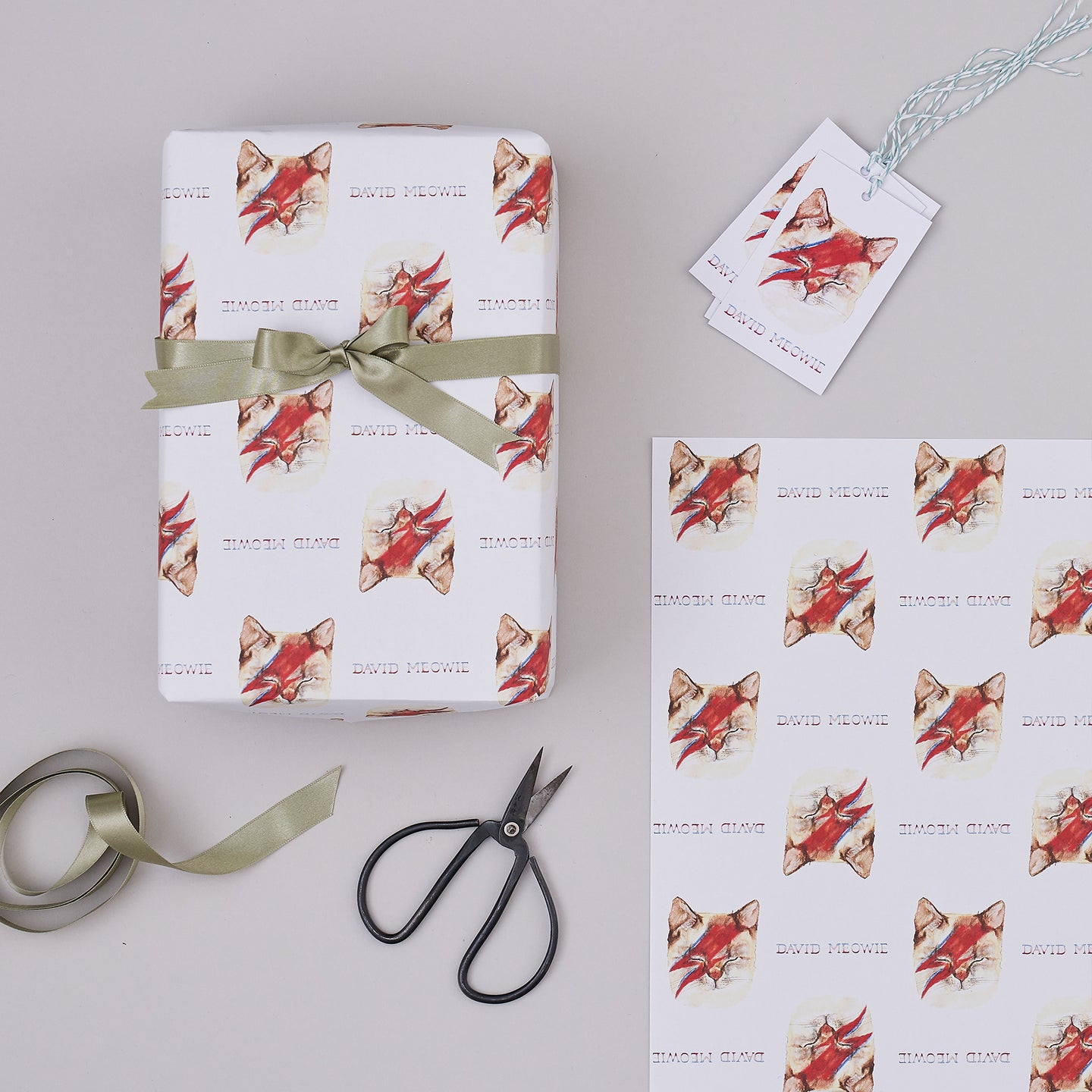 David Meowie Wrapping Paper