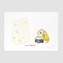 Say Cheese Print Flat