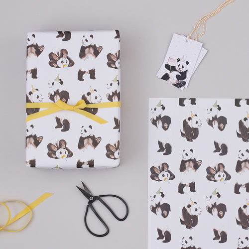 Panda Party Wrapping Paper
