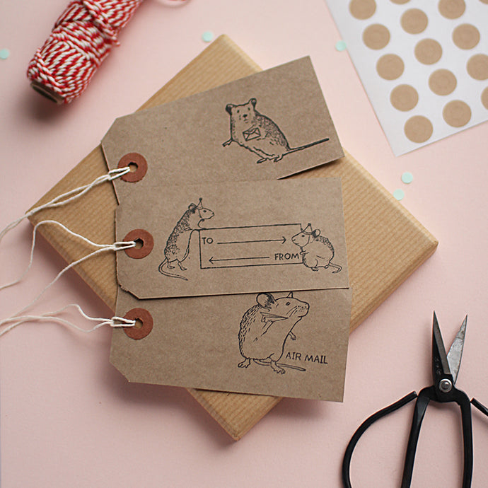 Post Mouse Gift Tags