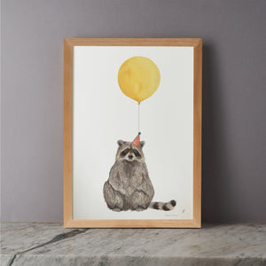 Balloon Animal Print - Raccoon