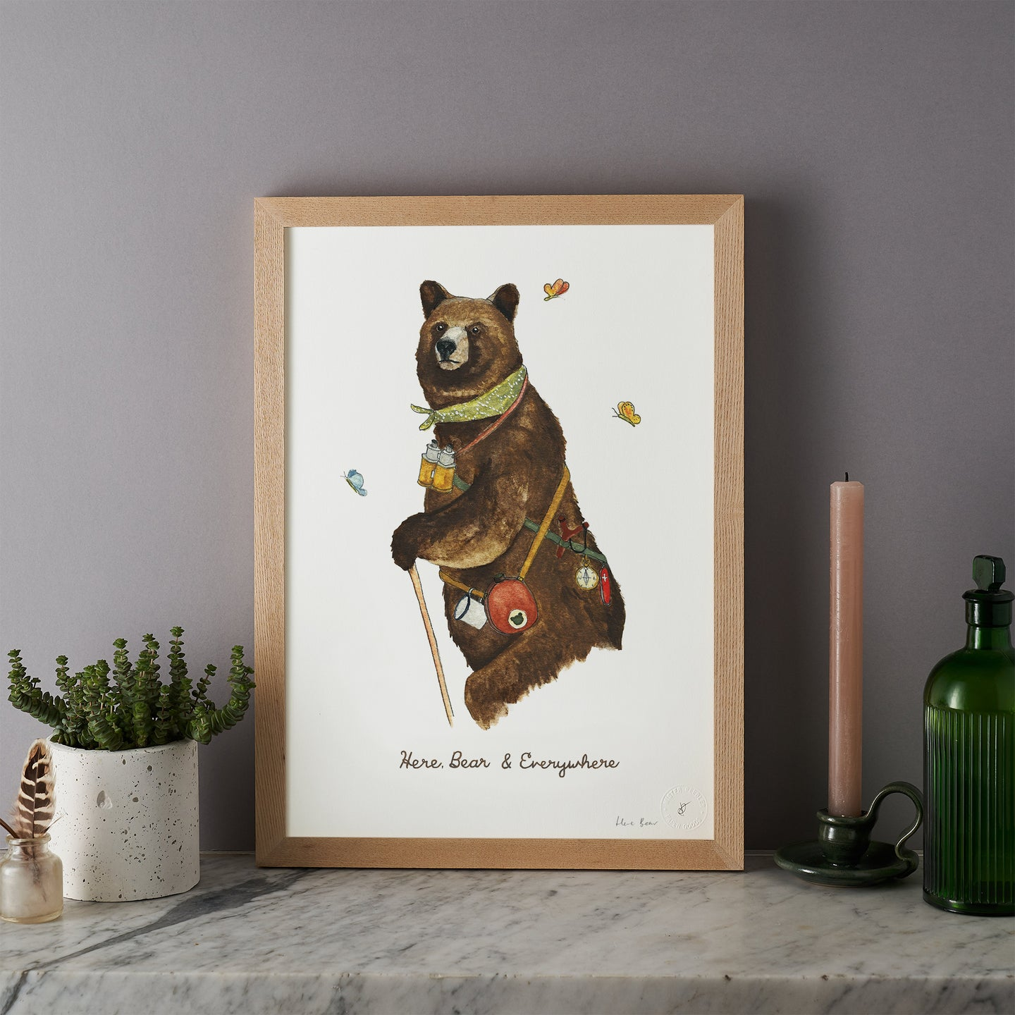 Here Bear and Everywhere Print