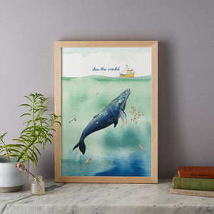 Sea The World Print