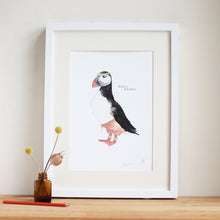 Huffin and puffin print