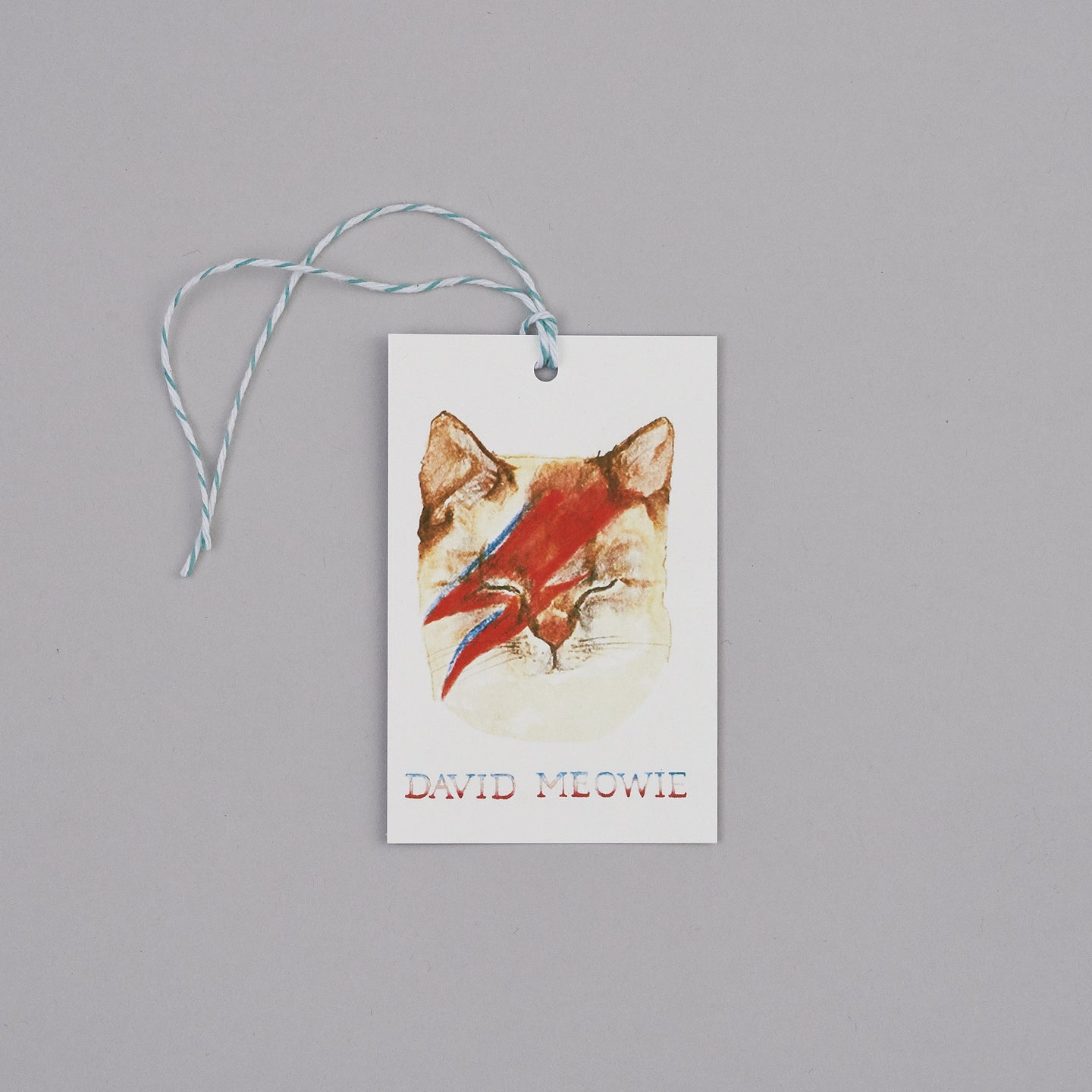 David Meowie Gift Tags