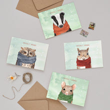 Woolly Wishes Squirrel Christmas Card