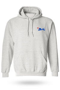 Hoodie with Zab's logo on top left