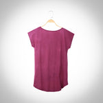 Sangu & Asoka infused Short Sleeve T-shirt - Mulberry