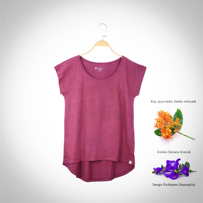 Short Sleeve T-shirt (Women) - Mulberry