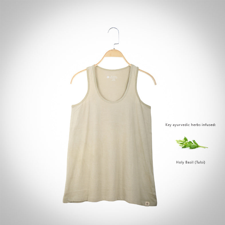 Tulsi infused Tank Top - Olive
