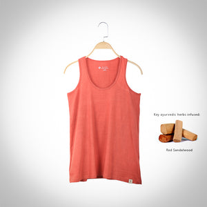 Red Sandalwood infused Tank Top  - Brick Red