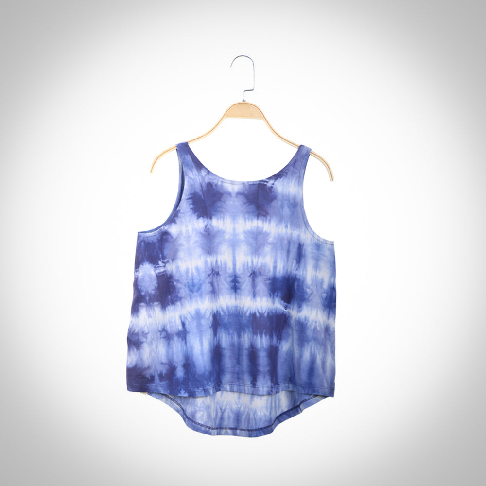 Indigo and Aloe Vera infused  Flared  T-shirt - Tie and Dye
