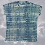 Cloudy Skies -Men's V Neck T Shirt - Hand Dyed with Neem and Aloe Vera