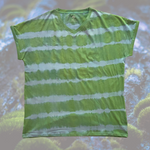 ForestGreen -Men's V-Neck T Shirt - Hand Dyed with True Indigo and Turmeric