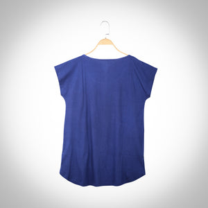True Indigo infused Short Sleeve T-shirt - Indigo