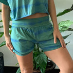 Forest Green - Women's  Yoga Shorts - Hand Dyed with True Indigo and Tumeric
