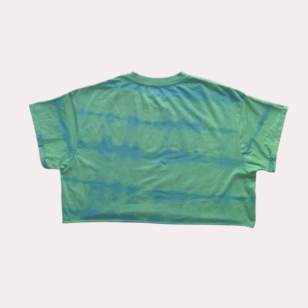 Forest Green -Women's Crop T Shirt - Hand Dyed with True Indigo & Turmeric