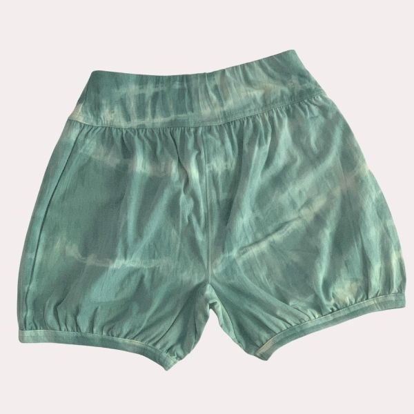 Cloudy Skies - Women's  Yoga Shorts - Hand Dyed with Neem and Aloe Vera