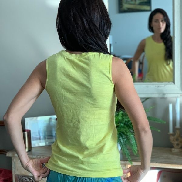 Turmeric  infused Sleeveless T-shirt  (100% Organic Cotton)