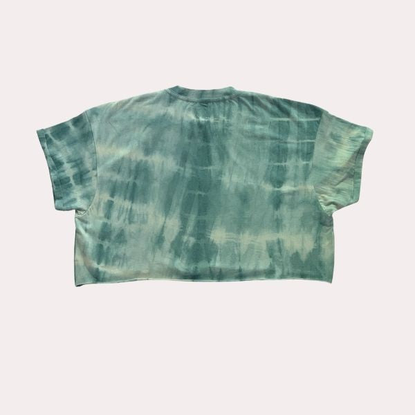 Cloudy Skies -Women's Crop T Shirt - Hand Dyed with Neem and Aloe Vera