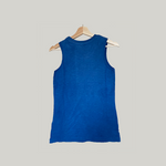 True Indigo  infused Sleeveless T-shirt  (100% Organic Cotton)