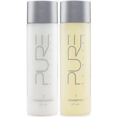 Pure By Gloss Shampoo and Conditioner - Luxurious, Moisturizing, Cleansing and Detangling Formula for All Hair Types - Fresh Lemon Scent - 8.5oz, 3 Packs