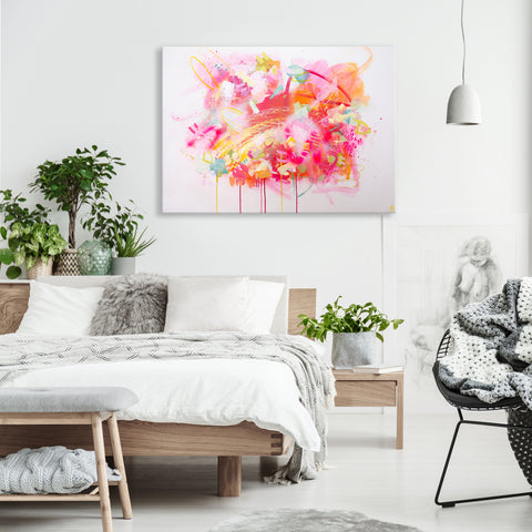 Large colourful abstract original painting
