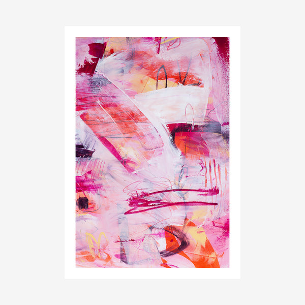 unframed image of abstract art print by Australian artist Rose Hewartson printed in Australia