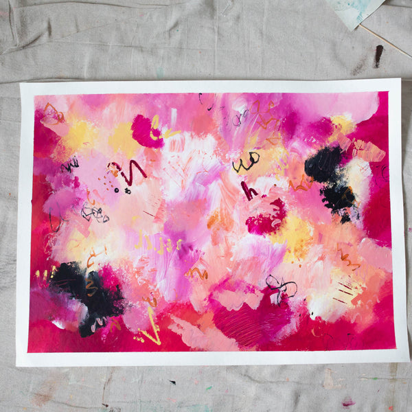 THIS IS EVERYTHING - Original Abstract Painting on Paper